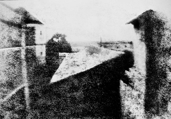 Вид из окна Первая фотография в мире