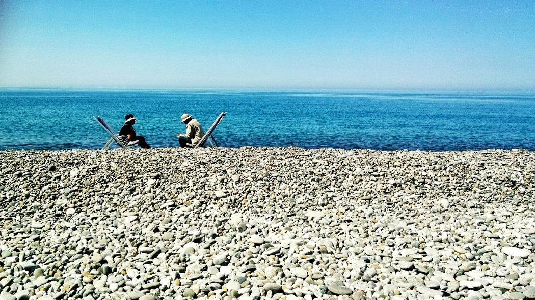 Сочи пляж туристы