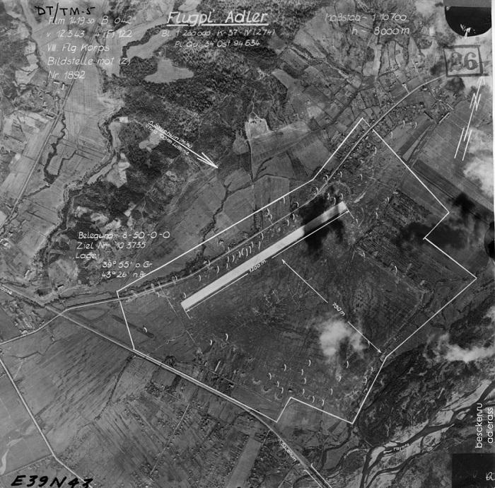 Аэропорт Сочи Снимок с немецкого самолета-разведчика