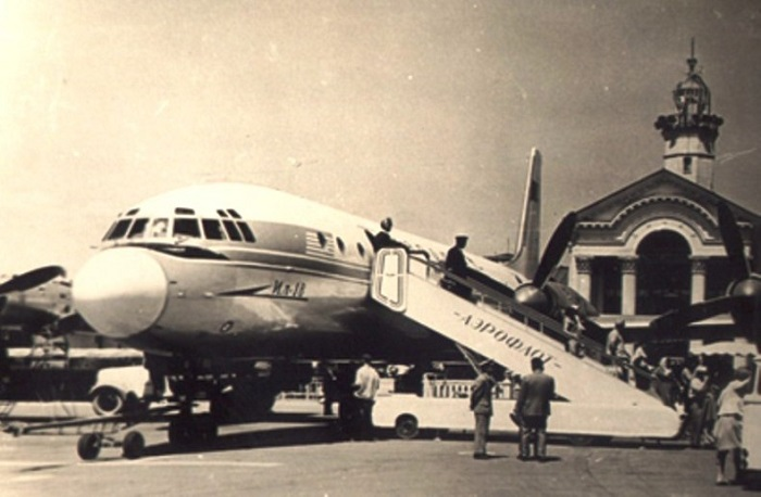Первый ИЛ-18 в Адлере. Сентябрь 1959 года