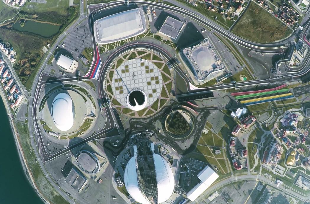 Олимпийский парк с высоты птичьего полета