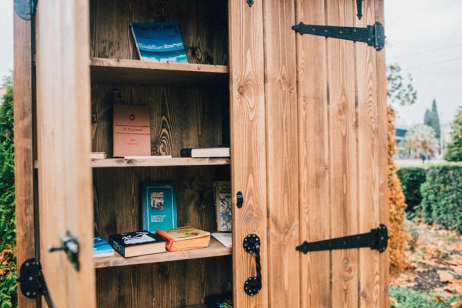 Читай Сочи Книжный шкаф Буккроссинг Книги