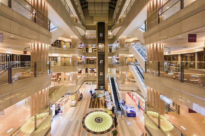 TOKYO, JAPAN - SEPTEMBER 1, 2015: Domestic Terminal Mall of Haneda Airport.
