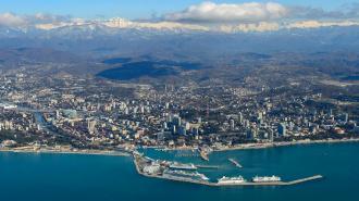 Морской порт Сочи вид сверху