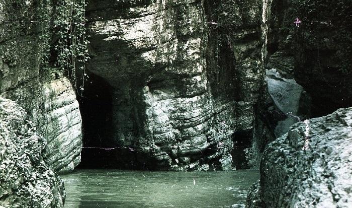Агурский водопад Сочи 1952