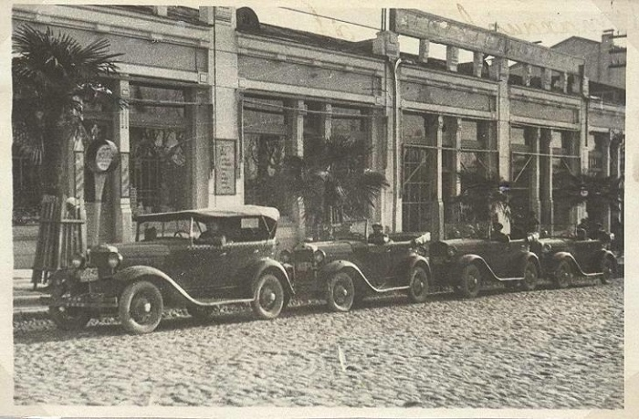 Такси на Курортном проспекте Сочи 1930-е