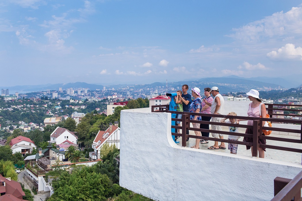 Туристы Сочи