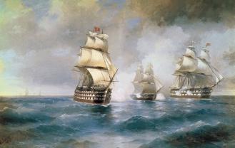 Картина Корабли Никас Сафронов