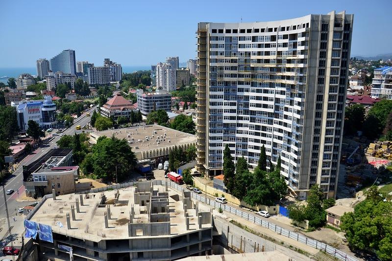 Сочи стройплощадка Курортный проспект 66 остановка Светлана