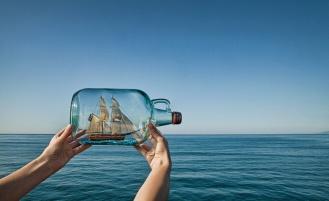 Море Корабль Бутылка